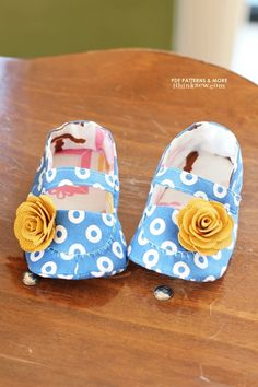 Baby girl shoe pattern - Mary Jane/moccasins
