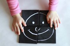 Chalkboard Canvas Puzzles: Video - http://www.pbs.org/parents/crafts-for-kids/chalkboard-puzzles-video/