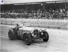 Le Mans 24heures 1933 , Alfa Romeo 8C 2300MM #11 , Drivers Tazio Nuvolari / Raymond Sommer , winner first place overall.