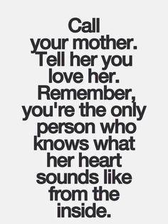 I love talking to my mom.