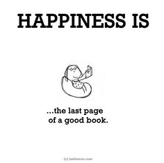 ... the last page of a good book