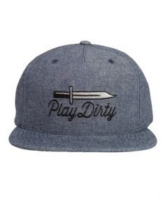 Undefeated - Blade Chambray Snapback Cap - $24