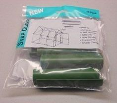 Snap Clamp 1/2 Inch x 4 Inches Wide for 1/2 PVC Pipe Green 10 per Bag by David's Garden Seeds by David's Garden Seeds. $5.30. Sturdy and long lasting PVC fitting. Works with standard United States pipe sizes. Excellent for building greenhouse PVC frames. Not rated for schduled 40 PVC pipe. Great for furniture projects. Fasten greenhouse plastic, row cover, or shade cloth to Quick Hoops and other PVC frame structures. Plastic clamps snap easily over coverings and PVC p...