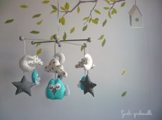 Chambre b b on pinterest mobiles bebe and baby bedroom for Decoration chambre bebe hibou