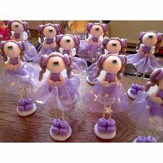Souvenir 15 Años Porcelana Fria Y Tul. Hadas Y Princesas! - $ 65,00