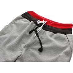 Mens Casual Running Drawstring Overknee Slim Fit Sports Cotton Capris Sports Pants