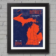 Detroit Tigers Print by UniversityPrints on Etsy, $12.00