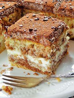 Show details for Recept - Řezy kralevic Polish Desserts, Polish Recipes, No Bake Desserts, Delicious Desserts, Cake Cookies, Cupcake Cakes, Baking Recipes, Cake Recipes, Bread Cake