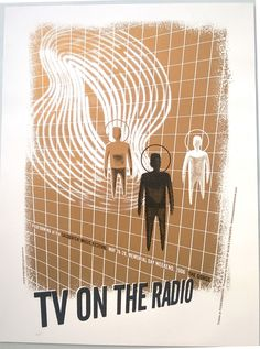 Looking for a genuine TV On The Radio concert poster (A/P) from May at the Sasquatch Festival? Rock Posters, Concert Posters, Movie Posters, Experimental Rock, Tv On The Radio, Flyers, Screen Printing, Eye Candy, Graphics