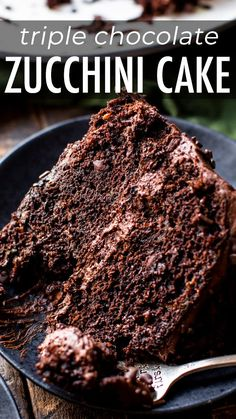 You won't even taste the vegetables in this chocolate zucchini cake! Super rich and moist with milk chocolate fudge frosting, everyone will love it! Chocolate Fruit Cake, Chocolate Fudge Frosting, Delicious Cake Recipes, Yummy Cakes, Dessert Recipes, Oreo Dessert, Mini Desserts, Healthy Desserts, Sallys Baking Addiction