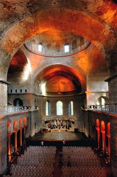 A concert in the Church of Hagia Irene, Turkey