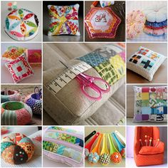 Pincushions I heart | 1. 'Hope Valley' pin cushion, 2. Scrap… | Flickr - Photo Sharing!