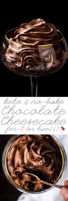 No-Bake Gluten Free Keto Chocolate Cheesecake For 1 (Or Two!) Easy-peasy and fa… No-Bake Gluten Free Keto Chocolate Cheesecake For 1 (Or Two!) Easy-peasy and fairly instant! Keto Desserts, Keto Snacks, Dessert Recipes, Dessert Ideas, Health Desserts, Keto Desert Recipes, Party Snacks, Easy Keto Dessert, Desserts Diy