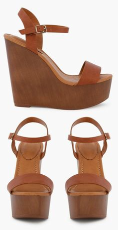 Wonderful Wooden Wedges! #fashion #shoes #wedges
