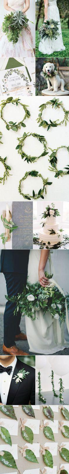 Ideas For a Pantone Greenery Wedding