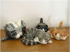 Mike Hinton Studio Pottery Cat Collection