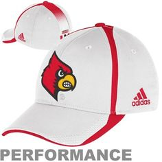adidas Louisville Cardinals Sideline Player Performance Flex Hat - White