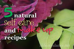 5 Natural Self Care Makeup - A Life in Balance, via Flickr