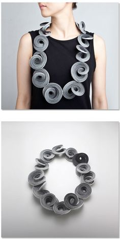 Yong Joo Kim  Neckpiece: Reconfiguring the Ordinary: Twist Looped and Attached 2011  Hook-and-loop fastener, thread