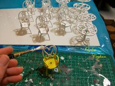 ! ♥ Small Things - miniature, Hobby ♥!: Wrought iron table and chair set step by step pictures