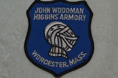 John Woodman Higgins Armory Embroidered Shield Patch Worcester Massachusetts