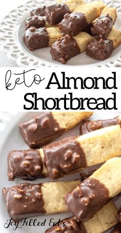 These buttery Almond Shortbread Cookies are an enjoyable sweet treat that you can't resist. These cute little mini shortbread cookies are perfect! Keto Cookies, Almond Shortbread Cookies, Gluten Free Cookies, Keto Friendly Desserts, Low Carb Desserts, Low Carb Recipes, Cod Recipes, Cabbage Recipes, Oven Recipes