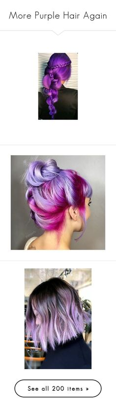 """More Purple Hair Again"" by neverland-is-just-a-dream-away ❤ liked on Polyvore featuring accessories, hair accessories, hair, beauty products, haircare, hair color, hair styling tools, my little pony, hair clip accessories and goth hair accessories"
