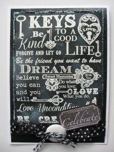 pinterest chalkboard january art | Heartfelt Creations Floral Key Chalkboard background