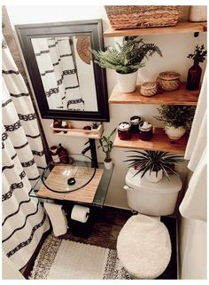 Deco Studio, Aesthetic Rooms, Bathroom Inspiration, Cozy House, Diy Home Decor, House Design, Cabin Design, Bathroom Small, Modern Boho Bathroom