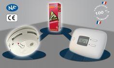 Fixations adh/ésives pour d/étecteur de fum/ée Netsecur