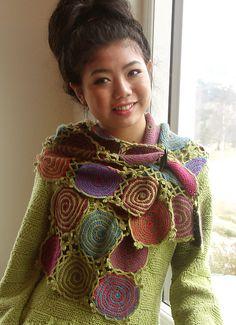 CROCHET ***LOVE this*** 779 New Year's Sun Scarf By Karen Noe - Purchased Crochet Pattern - (ravelry)