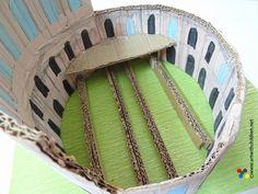 how to make a roman villa out of a shoebox