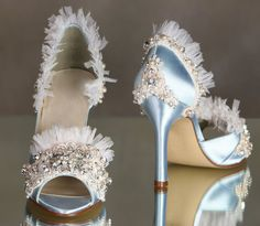 If I had this kind of money... Arbie Goodfellow Couture Marie Antoinette Wedding Shoes $1,080.00