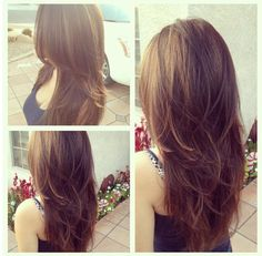 new style - long layers cut