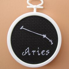 Handmade Cross Stitch Aries Astronomy Star Chart by RikkasCreations on Etsy