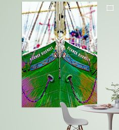 Bug des Museumssegelschiffes Rickmer Rickmers in Hamburg, Deutschland Ferris Wheel, Illustration, Fair Grounds, Canvas Frame, Hamburg, Printing On Wood, Artist Canvas, Digital Art, Illustrations