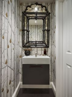 A downstairs toilet is usually the smallest room in the home, but that's no excuse for failing to make a statement with your cloakroom. Transform the toilet by using these design ideas as inspiration. Small Shower Room, Small Toilet Room, Guest Toilet, Small Bathroom, Wc Bathroom, Bathroom Modern, Dream Bathrooms, Small Wc Ideas Downstairs Loo, Cloakroom Toilet Downstairs Loo