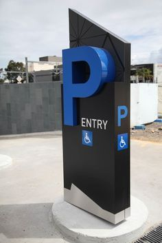 parking pylon sign - Google Search