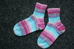Beautifull socks from a beautifull yarn; Opal Sweet 'n spicy ice cream.
