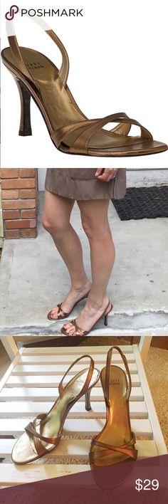 """Stuart Weitzman bronze Delovely kid heels 8.5 $298 VGUC. No issue. 4"""" heel. Stuart Weitzman Shoes Heels"""
