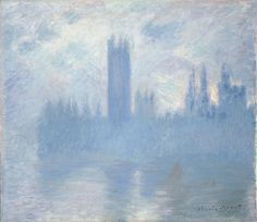 """Sans titre, surnommée Le Parlement de Londres"" 1900-1901 Dimension: 81 x 92 Art Institute of Chicago, Chicago"