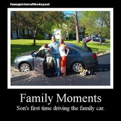 Family Moments Sons First Time Driving The Family Car Funny