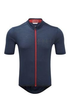 ashmei - Men's Cycle Croix de Fer Jersey - Run Run Cycle, Bike Wear, Cycling Jerseys, Cycling Outfit, Triathlon, Stripe Print, Short Sleeves, Navy, Swimwear