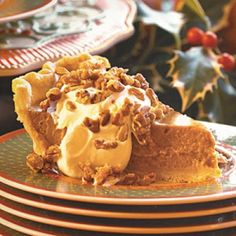 Perfect Pumpkin Pie Recipes: Pumpkin Pie with Maple Cream and Sugared Pecans