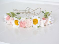 "Felt Floral Flower Crown - ""Pretty Pastels"" - Teen/Adult Size by SugarSnapBoutique on Etsy https://www.etsy.com/listing/225963263/felt-floral-flower-crown-pretty-pastels"