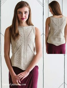 Women's tank top knitting pattern free