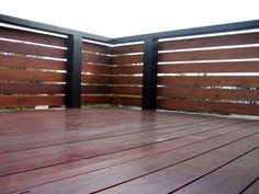 deck railing into fence - Google Search