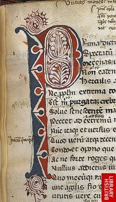 Detail of puzzle initial.   Origin:Italy, Central