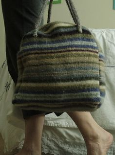 P4280018 by subbloke, via Flickr......old sweater to bags for anything...