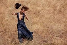 Model Daria Werbowy shot by Cass Bird on location in Kenya. Styled by Lori Goldstein.
